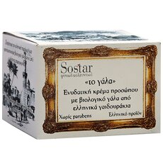 SOSTAR - ΤΟ ΓΑΛΑ Ενυδατική Κρέμα Προσώπου με βιολογικό γάλα από ελληνικά γαϊδουράκια 50ml
