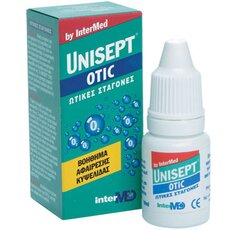 INTERMED UNISEPT Otic Drops Ωτικές σταγόνες για την αφαίρεση της κυψελίδας, 30ml