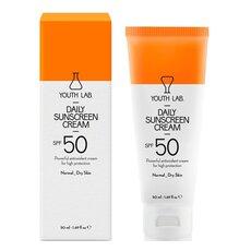 YOUTH LAB Daily Sunscreen Cream Spf 50 Αντιηλιακή κρέμα προσώπου με χρώμα για Κανονικό/Ξηρό Δέρμα 50ml