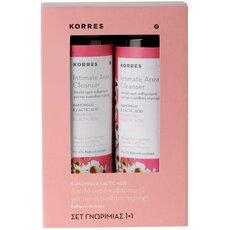 KORRES 1+1 Πακέτο Προσφοράς Intimate Area Cleanser με Χαμομήλι & Lactic Acid, 250ml