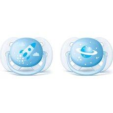 AVENT Πιπίλες Classic 0-6 μηνών κορίτσι Πρόσθετη ροή αέρα για δέρμα μωρού 2τμχ SCF180/26