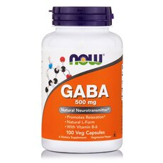 NOW FOODS GABA 500mg 100 veg caps