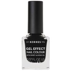 KORRES Gel Effect Nail Colour No. 100 Black Βερνίκι Νυχιών 11ml
