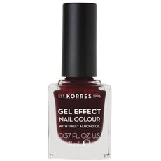 KORRES Gel Effect Nail Colour No. 57 Burgundy Red Βερνίκι Νυχιών 11ml