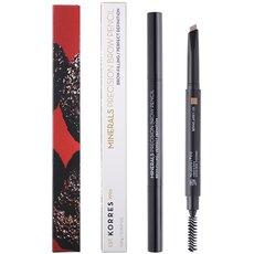 KORRES Minerals Precision Brow Pencil 03 Light Shade Μολύβι Φρυδιών Διπλής Όψης