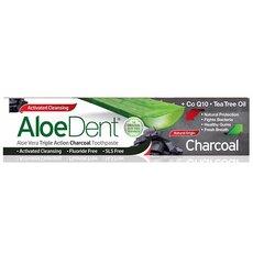 OPTIMA AloeDent Triple Action Activated Charcoal Οδοντόκρεμα Ενεργού Άνθρακα, 100ml