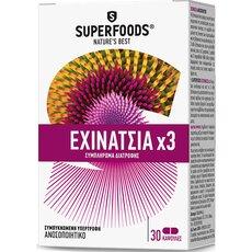 SUPERFOODS Echinacea X 3 Κρυολόγημα & Ανοσοποιητικό, 30caps