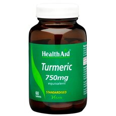 HEALTH AID Turmeric 750mg, 60 Ταμπλέτες