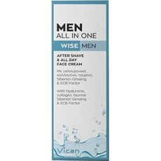 VICAN Wise Men All In One After Shave & All Day Face Cream, 50ml