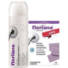 POWER HEALTH Fleriana Roll - On 100% Φυσικό Αντικουνουπικό 100ml + ΔΩΡΟ Φυσικά Εντομοαπωθητικά Πλακίδια 10tbs