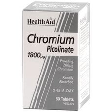 HEALTH AID Chromium Picolinate 1800μg 60 Tabs, fig. 1