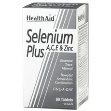 HEALTH AID Selenium Plus (Vitamins A, C, E, Zinc) 60 Veg Tabs, fig. 1