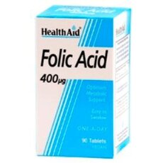 HEALTH AID Folic Acid 400µg 90 Veg Tabs, fig. 1