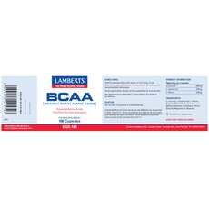 LAMBERTS BCAA Branch Chain Amino Acids 180 Capsules, fig. 2