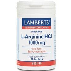 LAMBERTS L-Arginine HCl 1000mg Αργινίνη 90 Tablets