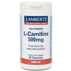 LAMBERTS L-Carnitine 500 mg Καρνιτίνη 60 Caps