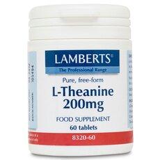 LAMBERTS L-Theanine 200mg Θειανίνη 60 Tablets, fig. 1