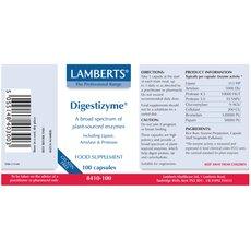 LAMBERTS Digestizyme Πεπτικά Ένζυμα 100 Capsules, fig. 2