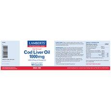 LAMBERTS Cod Liver Oil 1000mg 180 Caps, fig. 2
