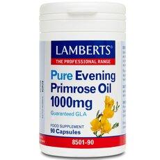 LAMBERTS Pure Evening Primrose Oil 1000mg Συμπλήρωμα με Γ-Λινολεϊκό οξύ (GLA) για Γυναίκες στην Εμμηνόπαυσης 90 caps