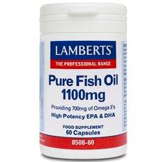 LAMBERTS Pure Fish Oil 1100mg Συμπλήρωμα Ιχθυελαίων για Καρδιά, Αρθρώσεις, Δέρμα & Εγκέφαλο 60 Capsules