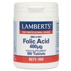 LAMBERTS Folic Acid 400µg Φυλλικό Οξύ 100 tablets