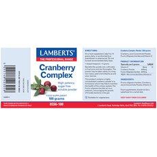 LAMBERTS Cranberry Complex Σύμπλεγμα για την Υγεία του Ουροποιητικού σε Σκόνη 100gr, fig. 2