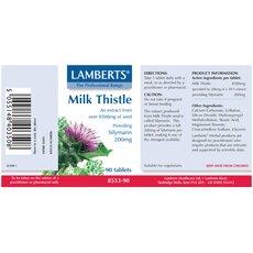 LAMBERTS Milk Thistle Providing Silymarin 200mg Γαϊδουράγκαθο 90 Tablets, fig. 2