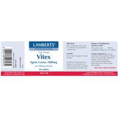 LAMBERTS Vitex Agnus Castus 1000mg Συμπλήρωμα Ρύθμισης του Εμμηνορροϊκού κύκλου 60 Tablets, fig. 2