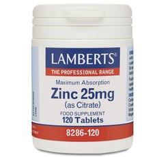 LAMBERTS Zinc 25mg (Citrate) Ψευδάργυρος 120 Κάψουλες, fig. 1