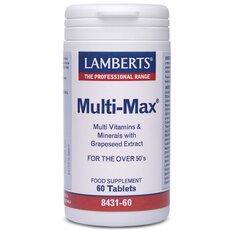 LAMBERTS Multi-Max Υψηλής Δραστικότητας Πολυβιταμίνη για Άτομα 50+ Ετών 60 Tablets