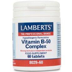 LAMBERTS Vitamin B-50 Complex Σύμπλεγμα Βιταμίνης B 60 Tablets