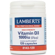 LAMBERTS Vitamin D3 1000iu (25μg) 120 Tablets