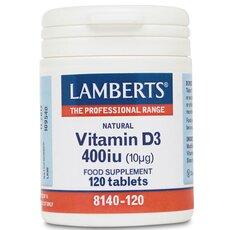 LAMBERTS Vitamin D3 400iu (10μg) 120 Tablets