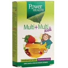 POWER HEALTH Multi + Multi Kids Παιδική Πολυβιταμίνη 30 Μασώμενα Δισκία, fig. 1