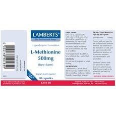 LAMBERTS L-Methionine Μεθειονίνη 500 mg, fig. 2