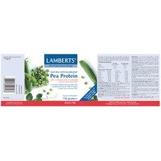LAMBERTS Natural Pea Protein Πρωτεϊνη από Μπιζέλια Ιδανική για Χορτοφάγους 750gr, fig. 2