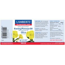 LAMBERTS Evening Primrose Oil with Starflower Oil 1000mg (Ωμέγα 6) 90 Κάψουλες, fig. 2