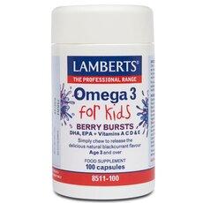 LAMBERTS Omega 3 for Kids, 100 Capsules
