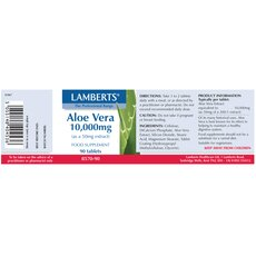 LAMBERTS Aloe Vera high strength 10.000mg 90 Ταμπλέτες, fig. 2