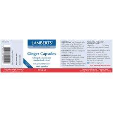 LAMBERTS Ginger Capsules Τζίντζερ 60 Κάψουλες, fig. 2
