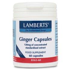 LAMBERTS Ginger Capsules Τζίντζερ 60 Κάψουλες