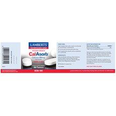 LAMBERTS CalAsorb - Calcium 800mg (as citrate) Ασβέστιο Υψηλής Απορρόφησης 60 Ταμπλέτες, fig. 2