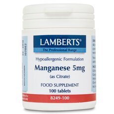 LAMBERTS Manganese 5 mg (as citrate) Μαγγάνιο 100 Κάψουλες