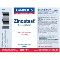 LAMBERTS Zincatest Διάλυμα Θειικού Ψευδαργύρου 100ml, fig. 2
