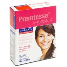 LAMBERTS Premtesse Πολυβιταμίνες για Γυναίκες στην Αναπαραγωγική Ηλικία με Προεμμηνορυσιακό Σύνδρομο PMS 60 Ταμπλέτες, fig. 1