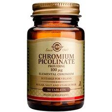 Solgar Chromium Picolinate 100μg Έλεγχος σακχάρου στο αίμα 90 Tablets, fig. 1
