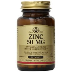 Solgar Zinc Gluconate 50mg Ψευδάργυρος 100 Tablets, fig. 1