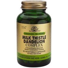 Solgar Milk Thistle Dandelion Complex, 50 Vegetable Capsules, fig. 1