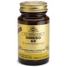 Solgar Ginkgo Biloba 60mg , 60 Vegetable Capsules, fig. 1